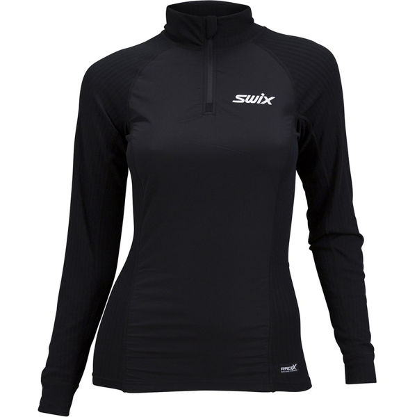 Picture of SWIX CROSS COUNTRY SKI SWEATER RACEX BODYW HALFZIP WIND BLACK FOR WOMEN