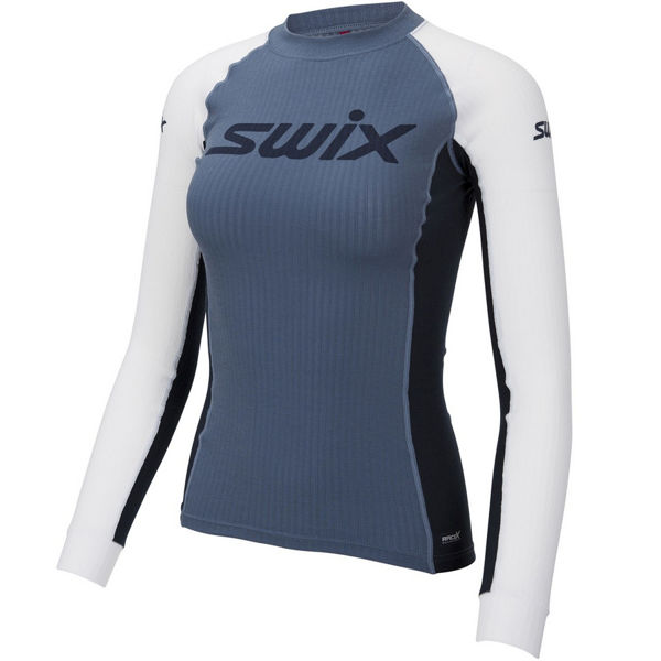 Picture of SWIX CROSS COUNTRY SKI SWEATER RACEX BODYW LS BLUE SEA FOR WOMEN