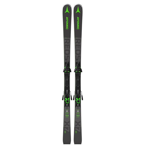 Picture of ATOMIC ALPINE SKIS REDSTER X7 WB W/ F 12 GW GREY/GREEN 2021 (WITH BINDINGS)
