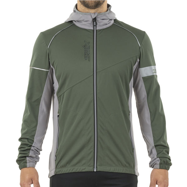 Picture of SWIX CROSS COUNTRY SKI JACKET NYBO OLIVE FOR MEN