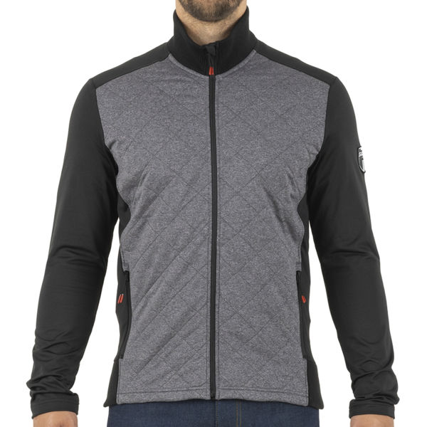 Picture of SWIX CROSS COUNTRY SKI SWEATER MYRENE FULL ZIP HEATHER CHARCOAL FOR MEN