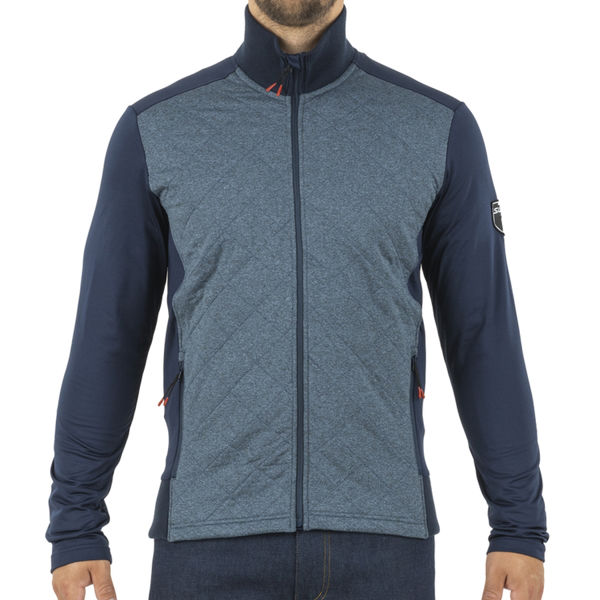 Image sur CHANDAIL DE SKI DE FOND SWIX MYRENE FULL ZIP HEATHER DARK NAVY POUR HOMME