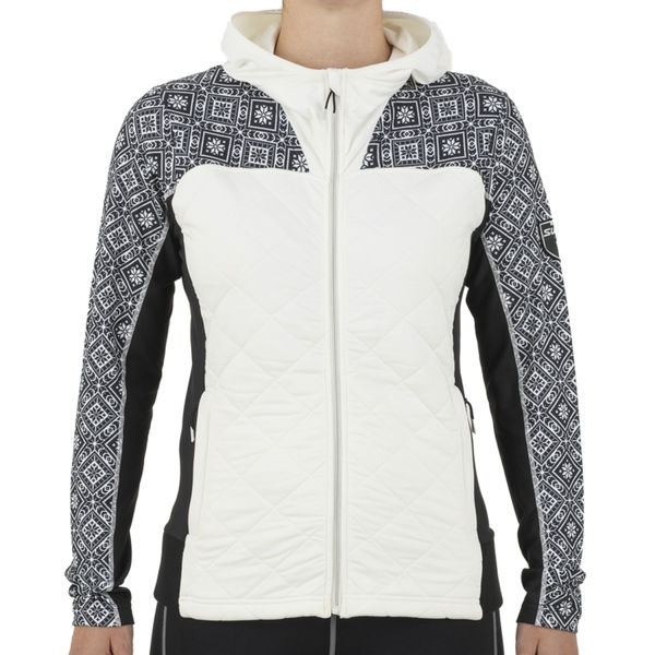 Picture of SWIX CROSS COUNTRY SKI SWEATER MYRENE FULL ZIP QUILTED MIDLAYER SNOW WHITE FOR WOMEN