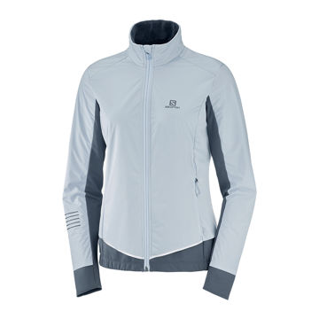 Image de MANTEAU DE SKI DE FOND SALOMON LIGHTING LIGHTSHELL KENTUCKY BLUE/EBONY POUR FEMME