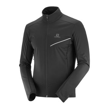 Picture of SALOMON CROSS COUNTRY SKI JACKET RS SOFTSHELL BLACK FOR MEN