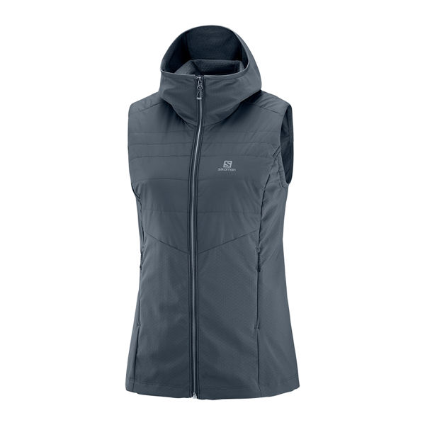 Picture of SALOMON CROSS COUNTRY SKI JACKET OUTSPEED INSULATED VEST EBONY FOR WOMEN