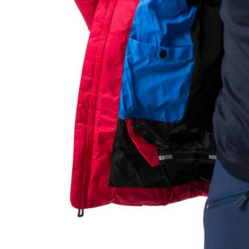 Picture of ROSSIGNOL ALPINE SKI JACKET HIVER DOWN NEON RED FOR MEN