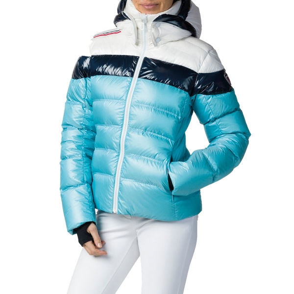 Picture of ROSSIGNOL ALPINE SKI JACKETS HIVER METALIC DOWN BABY BLUE FOR WOMEN