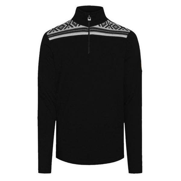 Image sur CHANDAIL DE SKI ALPIN DALE OF NORWAY CORTINA BASIC MASC SWEATER BLACK OFFWHITE POUR HOMME