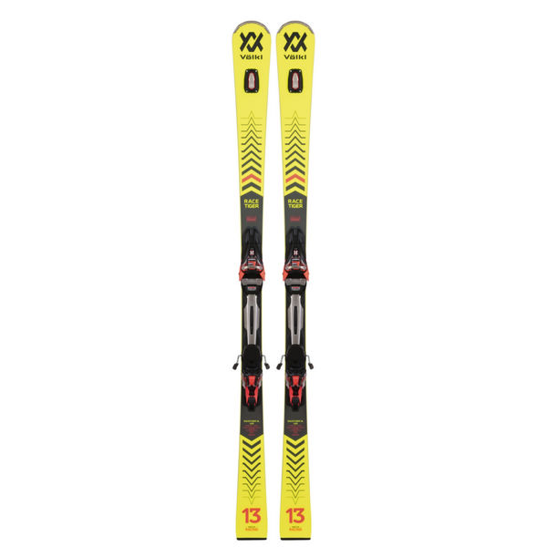 Picture of VOLKL ALPINE SKIS RACETIGER SL W/ RMOTION 12 GW YELLOW 2021 (WITH BINDINGS)