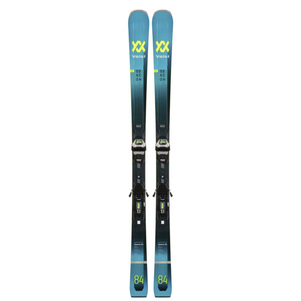 Picture of VOLKL ALPINE SKIS DEACON 84 W/ LOWRIDE XL 13 BLACK/TEAL 2021 (WITH BINDINGS)