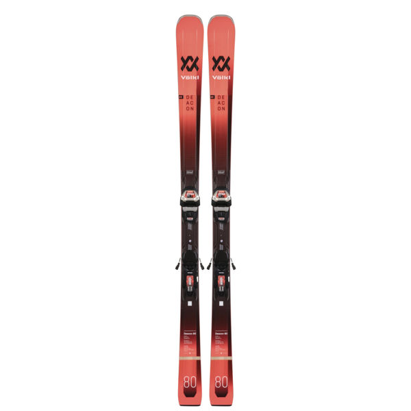 Picture of VOLKL ALPINE SKIS DEACON 80 W/ LOWRIDE XL 13 BLACK/RED 2021 (WITH BINDINGS)