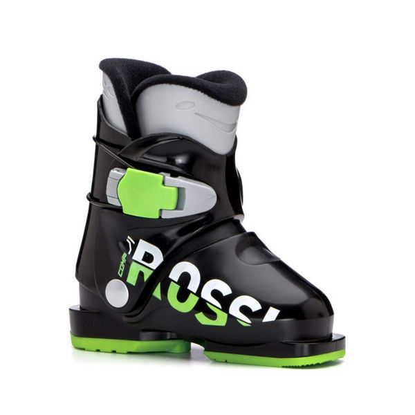 Picture of ROSSIGNOL APLINE SKI BOOTS COMP J1 BLACK/GREEN FOR JUNIORS