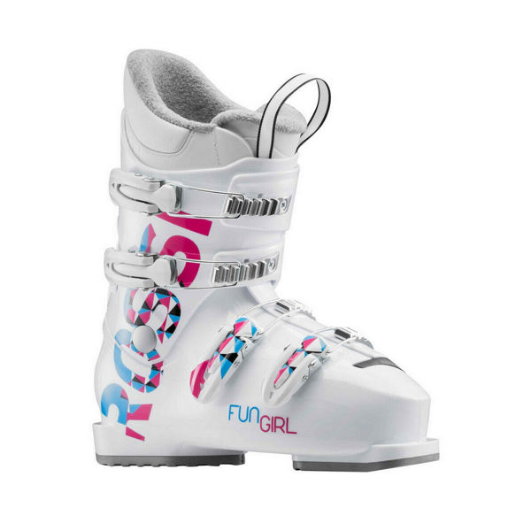 Picture of ROSSIGNOL APLINE SKI BOOTS FUN GIRL J4 WHITE/PINK/BLUE FOR JUNIORS