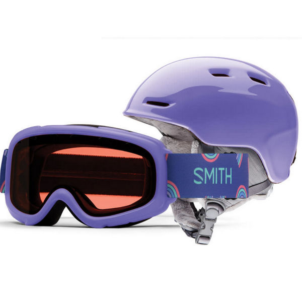 Picture of SMITH ALPINE SKI HELMET COMBO ZOOM JR / GAMBLER THISTLE FOR JUNIORS