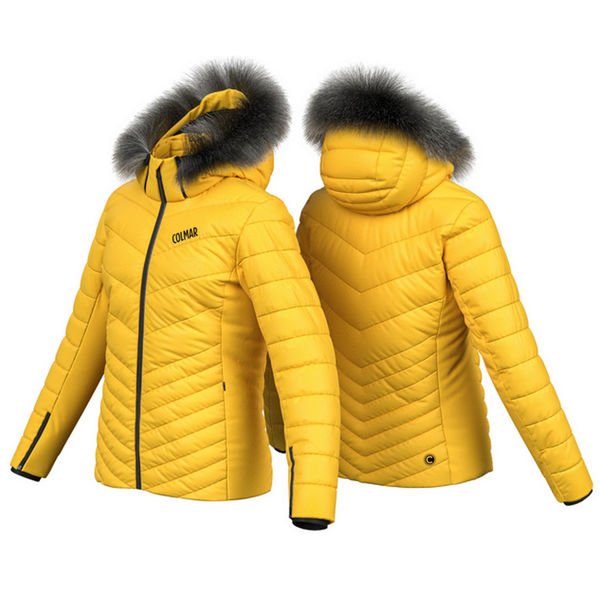 Picture of COLMAR ALPINE SKI JACKETS ANCOLIE YELLOW FOR WOMEN