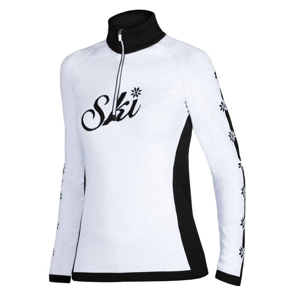 Picture of NEWLAND ALPINE SKI SWEATERS PENICE WHITE/BLACK FOR WOMEN