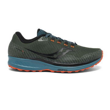 Picture of SAUCONY TRAIL RUNNING SHOES CANYON TR PINE/ORANGE FOR MEN