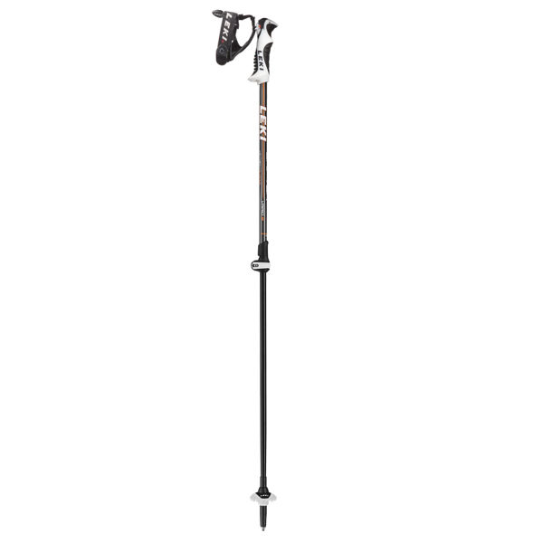 Picture of LEKI ALPINE SKI POLES DRIFTER VARIO S 90-120CM BLACK/ORANGE FOR MEN