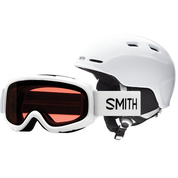 Picture of SMITH ALPINE SKI HELMET COMBO LUNETTE ZOOM/RASCAL WHITE FOR JUNIORS