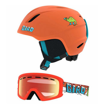 Picture of GIRO ALPINE SKI HELMET LAUNCH CP MAT DEEP ORANGE DINO FOR JUNIORS