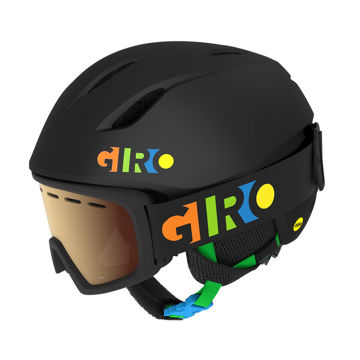 Picture of GIRO ALPINE SKI HELMET LAUNCH CP BLK/PARTYBLOCKS FOR JUNIORS