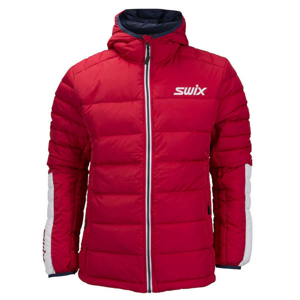 Picture of SWIX CROSS COUNTRY SKI JACKET DYNAMIC DOWN SPECIAL MAKE UP RED FOR MEN