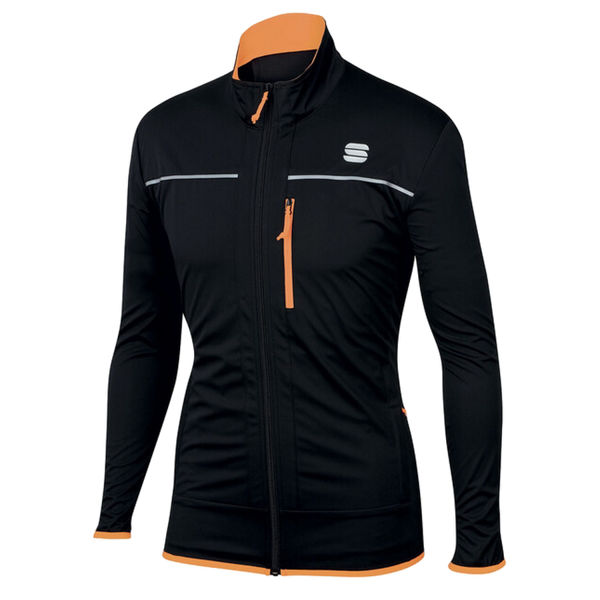 Picture of SPORTFUL CROSS COUNTRY SKI JACKET ENGADIN WIND BLACK/ORANGE FOR MEN