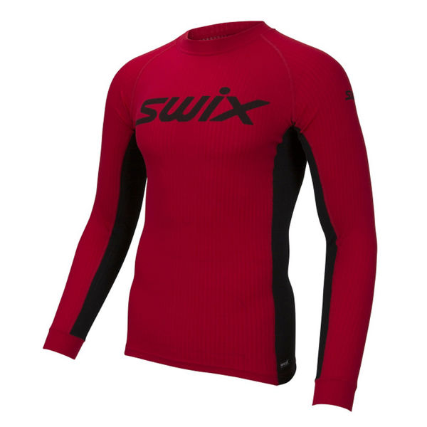 Picture of SWIX CROSS COUNTRY SKI SWEATER RACEX BODYW LS RED FOR MEN