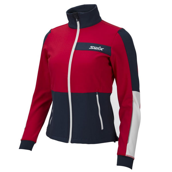 Picture of SWIX CROSS COUNTRY SKI JACKET STRIVE RED FOR WOMEN