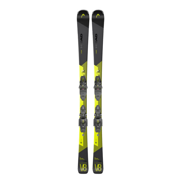 Picture of HEAD ALPINE SKIS V-SHAPE V8 170CM W/ PR 11 GW 20-21 BLACK/YELLOW 2021 FOR MEN (WITH BINDINGS)