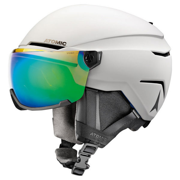 Picture of ATOMIC ALPINE SKI HELMET SAVOR VISOR STEREO PLUS WHITE