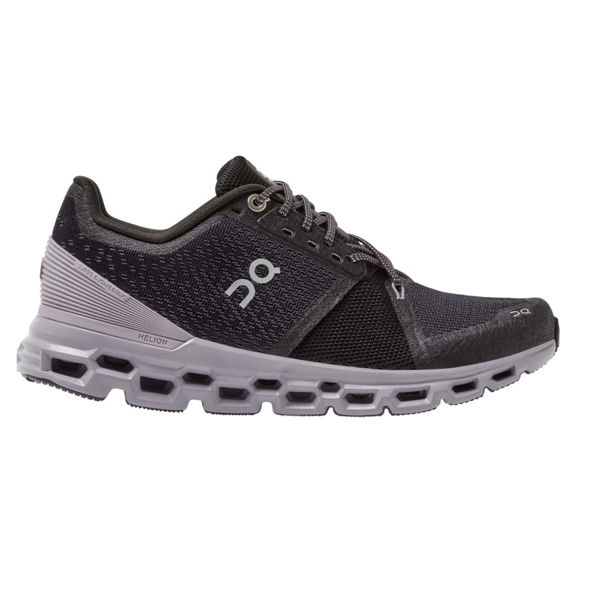 Picture of ON ROAD RUNNING SHOES CLOUDSTRATUS BLACK/LILAC FOR WOMEN