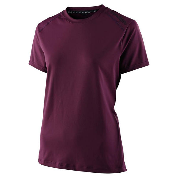 Picture of TROY LEE DESIGNS BIKE JERSEY LILIUM SS DEEP FIG FOR WOMEN
