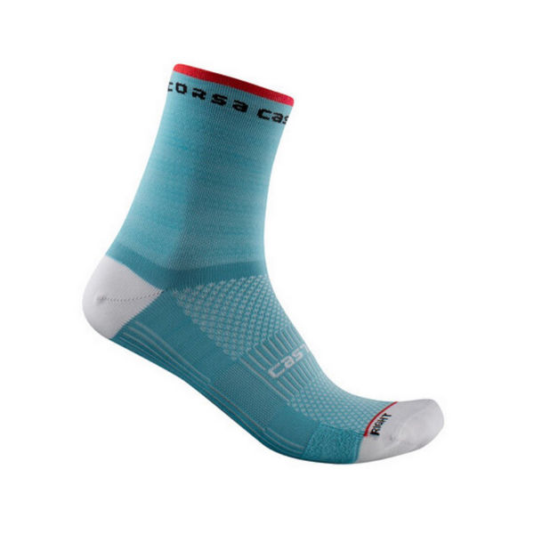 Picture of CASTELLI SOCKS ROSSO CORSA 11 CELESTE FOR WOMEN