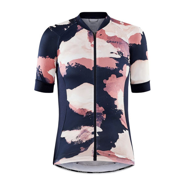 Picture of CRAFT BIKE JERSEY ADV ENDUR GRAPHIC BLAZE/CORAL FOR WOMEN