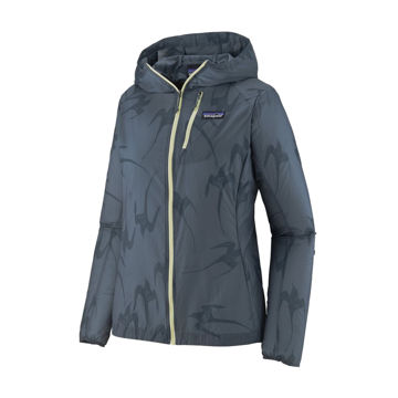 Picture of PATAGONIA RUNNING JACKET HOUDINI TROPI BIRDS: PLUME GREY FOR WOMEN