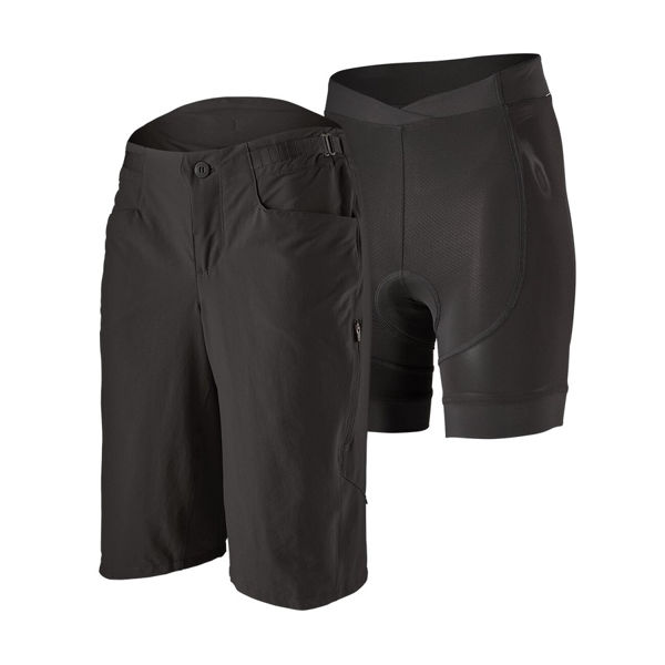 "Picture of PATAGONIA SHORTS WITH CHAMOIS DIRT CRAFT 12"" BLACK FOR WOMEN"