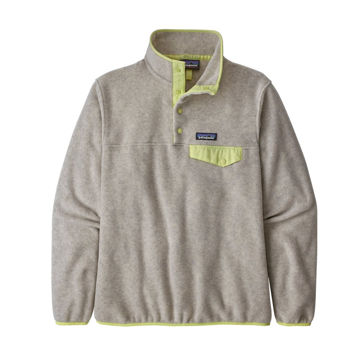 Picture of PATAGONIA LIGHTWEIGHT SYNCHILLA SNAP-T OATMEAL HEATHER W/JELLYFISH YELLOW FOR WOMEN