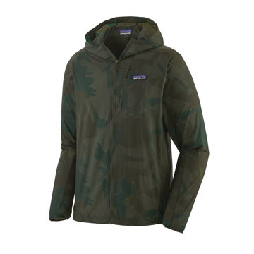 Picture of PATAGONIA RUNNING JACKET HOUDINI PAINTED FIELDS BIG: CROP GREEN FOR MEN