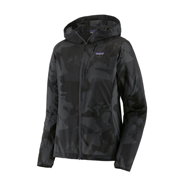 Picture of PATAGONIA RUNNING JACKET HOUDINI PAINTED FIELDS BIG: BLACK FOR WOMEN