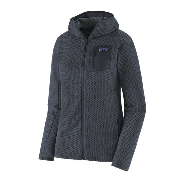 Picture of PATAGONIA ALPINE SKI SWEATERS SWEATER R1 AIR FULL-ZIP SMOLDER BLUE FOR WOMEN