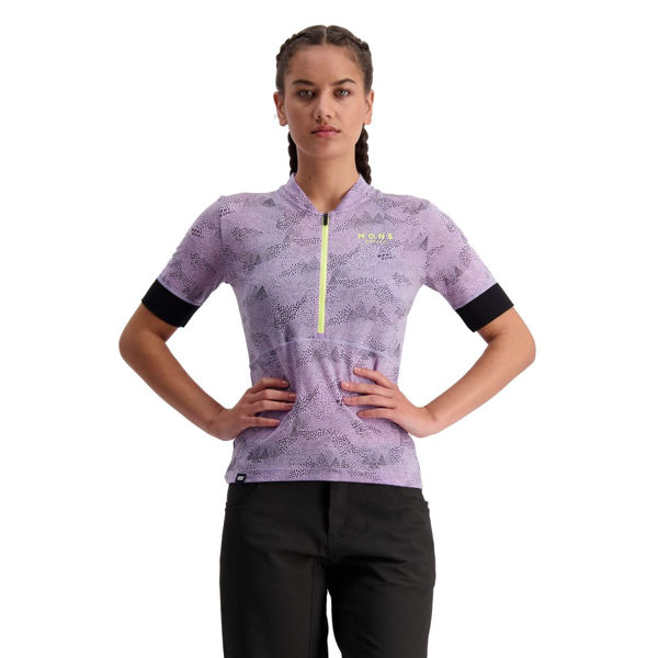 Picture of MONS ROYALE BIKE JERSEY HALF ZIP LILAC MICRO FOR WOMEN