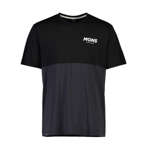 Picture of MONS ROYALE BIKE JERSEY TARN FREERIDE T BLACK/9 IRON FOR MEN