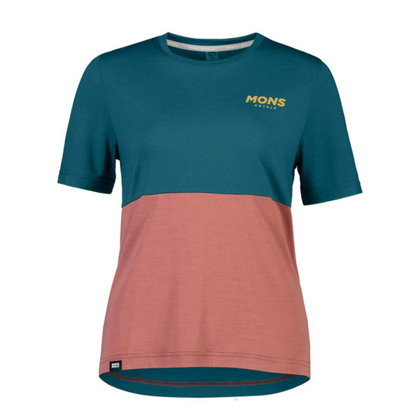 Picture of MONS ROYALE BIKE JERSEY TARN FREERIDE FEMME DEEP TEAL/ PINK CLAY FOR WOMEN
