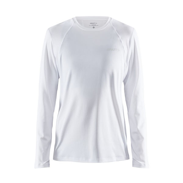 Picture of CRAFT RUNNING JERSEY ADV ESSENCE LS WHITE FOR WOMEN