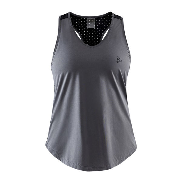 Picture of CRAFT TANKTOP ADV CHARGE PERFORATED GREY FOR WOMEN