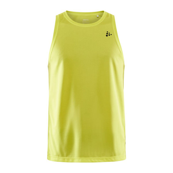 Picture of CRAFT TANKTOP CORE CHARGE YELLOW FOR MEN