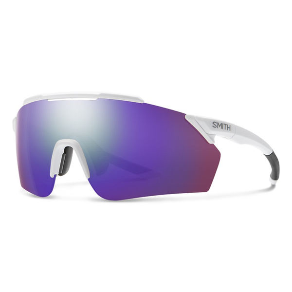 Picture of SMITH SUNGLASSES RUCKUS MATTE WHITE/ CHROMAPOP VIOLET MIRROR