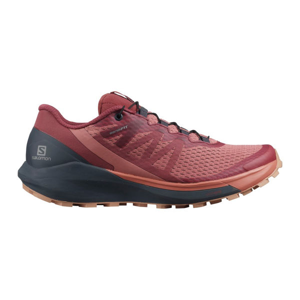 Picture of SALOMON TRAIL RUNNING SHOES SENSE RIDE 4 BRICK DUST / INDIA INK / SIROCCO FOR WOMEN
